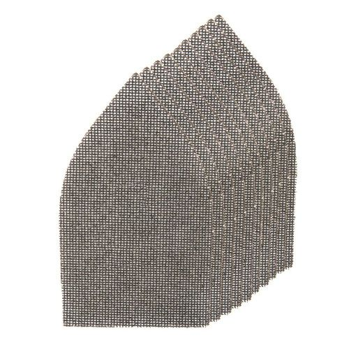 10 Pack Silverline 576005 Hook & Loop Mesh Sanding Sheets 175mmx105mm Mixed Grit